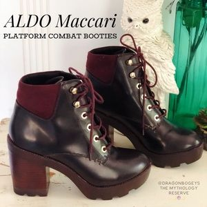 ALDO Maccari Platform Combat Booties